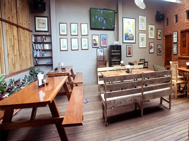 Beer Garden The Beer Garden is a great place to chill out and relax with families & friends,  watch your favorite sports or have a party.